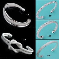 Wholesale Top Grade Silver Bangles Bracelet Hot Sale Styles Shining Women s Cuff Bracelets Bangle Fashion Jewelry YDHZ