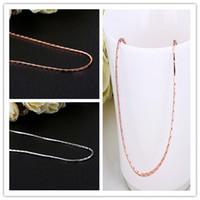 Gros bijoux de mode, Chaînes pour Pendentif, 18K Rose / Blanc plaqué or DIA.1.5mm 18 Pouces Chaînes Colliers