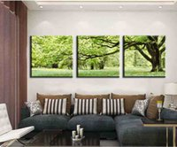 Cheap New 3 piece abstract no frame printed canvas art tree canvas wall picture decoration home modern canvas oil art Prints