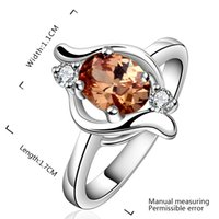 Cheap 925 Sterling Silver Eternal Noble Jewelry Engagement Wedding Rings CZ Crystal Rings Zircon Rings Jewelry