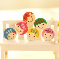 Wholesale Pupils praise A07 small rubber eraser school supplies creative stationery gifts