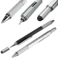 art tech - Modern Design Overvalue Handy Tech Tool Ballpoint Pen Screwdriver Ruler Spirit Level Multifunction Tool Fit For Mens Gift