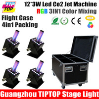 Wholesale Stackable in1 Flight Case Packing Stage Equipment Led Co2 Jet RGB Color x Watt Big Disco Co2 Machine DMX Manual Control V V
