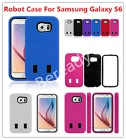Yes bag combos - Hybrid Robot Case Rugged Duty Durable in Combo Case Cover TPU Hard PC Back Cover For Samsung Galaxy S6 G9200 With OPP Bag Colors