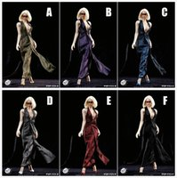 abs heel - POPTOYS F23 Scale Monroe Dress Suit High Heeled Shoes for PHICEN Doll Flexible Female Body Toys Accessories