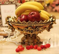 antique platter - 2014 new Eropean style Antique fruit dish plate platter wedding gifts home decorations