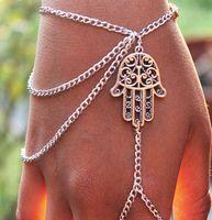 bangles online shopping - Vintage Retro alloy Hot Hollow hand shape Bracelets crystal Bangle Bracelet White Gold plated Bracelets online shopping india