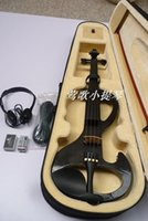 Wholesale Handmade black S electric violin musical instrument