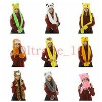 Wholesale 100PCS LJJH963 Hot Sale Winter Cartoon Minions KT Glove Hat Scarf Sets Fashion Warm plush Caps minions hat gloves scarf in
