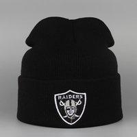 beanie hats for men sports - New Brand Winter Beanies RAIDERS Knit Warm Hip Hop Cap Women Sport Knitted Hats Ski Skullies For Men Wool Cap Gorros Hombre