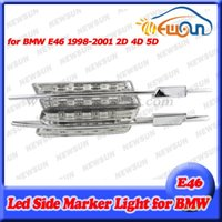auto repeater - Auto Car Amber side repeater LED light side marker turn signal light for BMW E46 D D D clear model error free