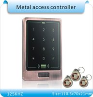 Wholesale metal case touch keyboard led light KHZ RFID access control system crystal keyfobs