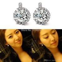 fashion beaded earrings - Lady Beaded Filled Double Earrings Charm Round Zirconia High Quality Party Pierced Fashion Charm Stud Earrings Women H6584 W0 SUP5