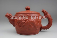 Wholesale Chinese Yixing Zhuni Red Barrel Dragon zisha teapot