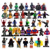 Wholesale Hot New Year Gift High Quality No Box Mini Figure avenger super hero ironman batman Flash Building Blocks toys free ship