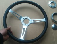 Wholesale Universal MM inch leather racing steering wheel X