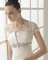 beauty delivery - Hot New Arrival White And Ivory Bridal Wraps Fast Delivery Lace Bolero Jacket For Beauty Bridal Dress