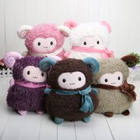 Farm Animals sheep plush - Sheep plush toy doll thermal cartoon pillow alpaca hand Warmer handwarmer pocket pink color