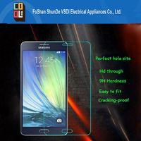 arc sticks - Easily to stick tempered glass screen protector for Samsung A8 Samsung phone D arc edge design