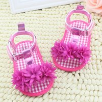 baby crib shoes sale - Hot Sale Baby Girl Floral Summer Sandals Crib Soft Sole Non slip Princess Shoes M