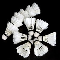 Wholesale O501 Badminton Shuttlecock piece Dozen Balls Goose Feather Composite Cork Badminton Equipment Goose Badminton Drop Shipping