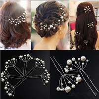 Wholesale 10 New Arrival Wedding Bridal Accessory Jewelry For Women Pearl Hair Pins Hair Clips Bridesmaid Jewelry