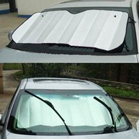 apply window film - 1 Car Window Sun Shade Aluminum Anti UV Protection Film Foldable Front Rear Block Applied Windshield Visor Auto Cover