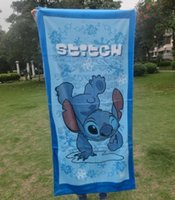 Wholesale 2014 hot sell Stitch Children s Towels Stitch bath Towels Fashion a Christmas gift fedex