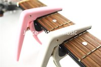 acoustic pink - Joyo Nylon Guitar Capo Clamp For Acoustic Electric Guitar Pink Grey Wholesales