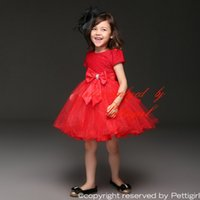 TuTu american formal wear - Pettigirl Hot Selling Girls Party Dresses With Bow Princess Summer Dress Kids Formal Party Wear Cheap GD11116 R