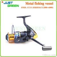Cheap CC11 CC2000-6000 Aluminum Fishing Reel Spinning Wheel Metal Fishing Wheel 11 Bearings Gapless 5.2:1 Gear Ratio