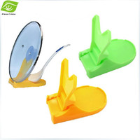 Wholesale Kitchen Necessary Multi Function Folding Cookware Cover Stand Pan Pot Cover Lid Holder Spoon Stand Holder dandys