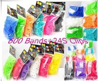 Wholesale 2015 Hot Bracelet Rainbow Loom Bands rubber Bands charm Bands S clips LOOM BANDS