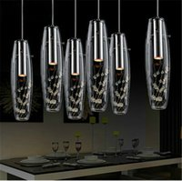 Wholesale Creative Modern K9 Crystal Chandelier Glass Pendant Light Living Room Bar Counter Stairs Crystal Pendant Light