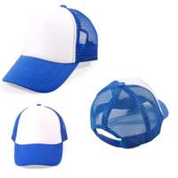Precio de Sombreros de béisbol en blanco snapback-120pcs mucho embroma los casquillos de béisbol en blanco Casquillos de béisbol modificados para requisitos particulares del caramelo-color Casquillos de bebé aptos de los muchachos del snapback del anuncio de la impresión de los casquillos