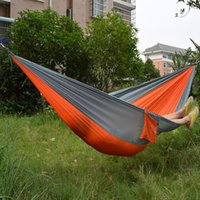 Wholesale camping Mixed color safe Outdoor Parachute X cm g Double Person Hammock Can Allowable KGS