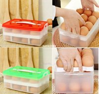 egg container - Two Layer Plastic Food Chicken Egg Holder Storage Bin Box Hamper Portable Egg Container Carrier Case Basket
