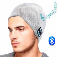 Wholesale 2016 NEW Soft Warm Beanie Bluetooth Music Hat Cap with Stereo Headphone Headset Speaker Wireless Mic Hands free for Men Women Gift K6468