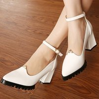 Wholesale 2014 cheap thick heel comfort shoes autumn spring Lace concise heels women work shoes large size XWD248