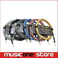 Wholesale 5pcs FD M Premium Instrument Cable Male to Male mm Audio Connection Cable For Electric Guitar Bass Effector Amplifier Speaker MU0598