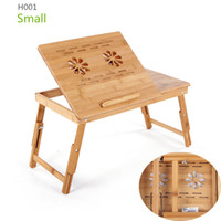 adjustable height portable table - Bamboo Laptop Desk Adjustable Height Folding Table Stylish Computer Desks Portable Xiaomi mipad Notebook Stand Inch New