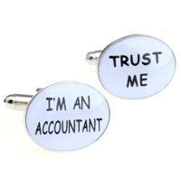 accountant day - I M AN ACCOUNTANT TRUST ME Epoxy Epoxy white cufflinks Cufflinks MTS