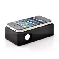 amplified speakers - Hot Brand New Wireless Amplifying Audio Interaction Induction Speaker for iPhone Samsung Smart Phones Black White