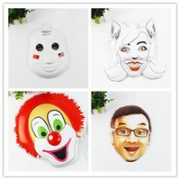 big m plastics - Cartoon DIY Mask Hot Personality Creative PVC Whimsy Mask Cartoon Pattern Boys Funny Birthday Party Fashion Custom High Quality Youth Face M