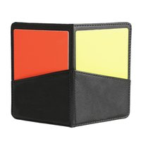 Wholesale New Soccer Football Referee Case with Red Card and Yellow Card Football Standard Bookings