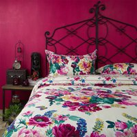 beautiful bedsheets - Retro beautiful flower bedding set cotton queen king pastoral country style bedclothes bedsheets pillow case comforter cover