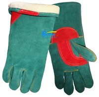 leather welding glove working gloves split leather - Work Gloves Blackish Green Cow Split Warm Winter Leather Welder Glove Leather Driver Work Glove Leather Welding Glove