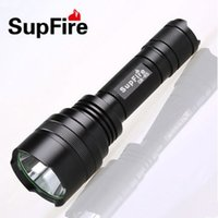 Wholesale Supfire C8 LED Flashlight Tactical Torch Portable Lighting Waterproof Rechargeable CREE Bulbs For Camping Better Quality Than Surefire W