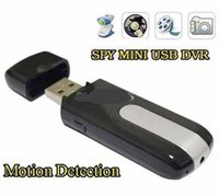 Wholesale Spy Camera HD Mini USB Disk Spy Cmera DVR U8 Motion Detect Camera Cam Hidden Camera
