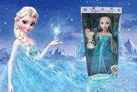 Wholesale 30 cm hight Frozen Figure Play Set Elsa Classic Toys Frozen Toys Dolls fedex tf01
